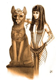 Egyptian Princess and The Egyptian Cat Goddess Bastet (THE MUMMY!)