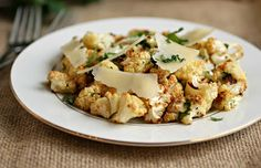 Hungry Couple: Roasted Cauliflower Salad with Lemon Herb Dressing