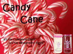 Pink Zebra Custom Recipe- CANDY CANE recipe.  Cinnamon Spice & Pepperminy Patty $8/jar  www.pinkzebrahome.com/bethhelton