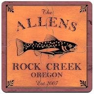 Trout Cabin Series Personalized Puzzle Beverage Coasters