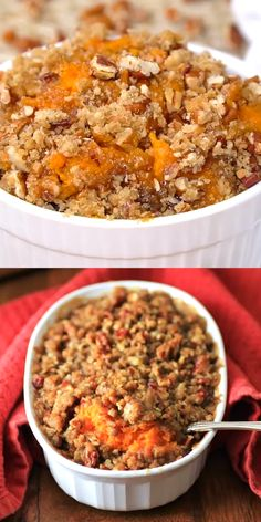 Ruth's Chris Copycat Sweet Potato Casserole is perfect at anytime of the year.Ruth's Chris Copycat Sweet Potato Casserole is perfect at anytime of the year. A must have holiday side! Great with ham, turkey or beef! Fall Recipes, Holiday Recipes, Easter Recipes, Apple Recipes, Thanksgiving Sweet Potato Recipes, Traditional Thanksgiving Recipes, Thanksgiving Turkey, Recipes Dinner, Dinner Ideas