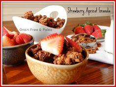 Strawberry Apricot Grain Free Granola Recipe