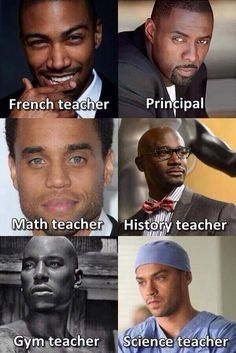 Beautiful black men ! Which class would you take? I'd make Terrence J the guidance counselor but who would teach my favorite subject, english? Maybe Columbus Short as Harrison on Scandal. Or maybe he'd teach social studies??? Oh, Brian White could totally teach English!