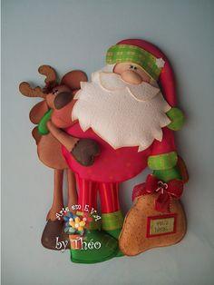 Noel e rena Christmas Projects, Felt Crafts, Holiday Crafts, Christmas Sewing, Christmas Fabric, Christmas Makes, Noel Christmas, Mery Chrismas, Baby Mobile