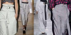 16 tendenze dalle sfilate per indossare i pantaloni a vita alta questa estate