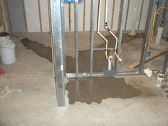 Plumbing Installation For Basement Bathroom And Bar.