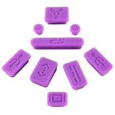 CY 9-pieces Anti-dust Silicone Plug For Apple MacBook Pro