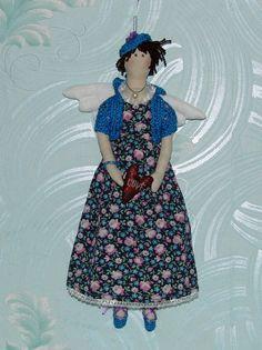 A girl in a cotton dress par ElZaShop sur Etsy, $50,00