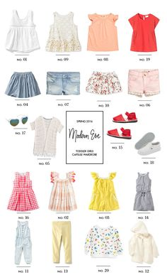 Toddler Capsule Wardrobe: Citrus Spring - Modern Eve #capsulewardrobe #toddlerfashion #babystyle #springfashion