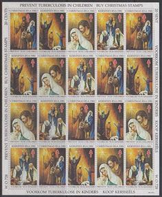 SA Christmas 1981 - Full Sheet Of 20 Stamps