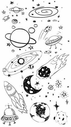 planetas dibujos space easy drawings desenhos drawing doodle galaxy disegni planets desenho planet stars tattoo planeta espacio dibujo galaxia doodles