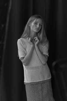 New Inga Buczynska campaign for spring - summer 2015. Minimal, black and white look