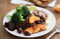 Indian-Spiced Broiled Salmon with Citrus Tart Cherry Chutney