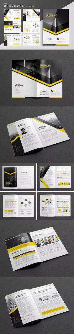 Company Brochure Template 16 Pages InDesign INDD A4