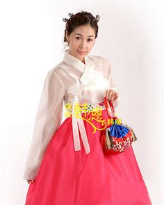 Women Hanbok Dress Custom Made Korean Traditional Hanbok High Waist Hanbok