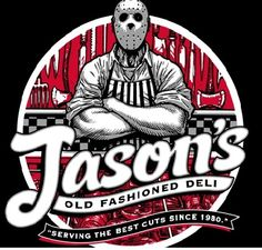 """Jasons Deli T-Shirt We are proud to serve our Jason's Old Fashioned Deli T-Shirt. Jason's Deli """"Serving the best cuts since It's cotton and in stock now! Scary Movies, Horror Movies, Funny Movies, Horror Villains, Slasher Movies, Funny Horror, Horror Cartoon, Horror Artwork, Horror Monsters"""