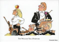 Joan Butler Classics Greeting Card - William Tell Overture William Tell, Overture, Butler, Greeting Cards, Hilarious, Comics, Classic, Derby, Laughing So Hard