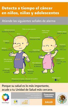 Detección precoz del cáncer en niños y adolescentes #infografia #infographic #health