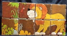 "8 PC LOT VINTAGE 4"" CARDBOARD PICTURE BLOCKS DIFFERENT DESIGNS on EACH SIDE"