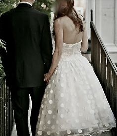 polka dot wedding dress - Google Search