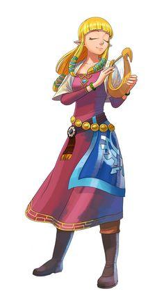 Zelda and her harp. Skyward Sword Zelda is cute. Zelda Skyward, Skyward Sword, Link Zelda, The Legend Of Zelda, Legend Of Zelda Breath, Ben Drowned, Metroid, Image Zelda, Cry Anime
