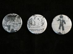 Pokemon Repurposed Comic Buttons set of three by EpicButtons, $4.00