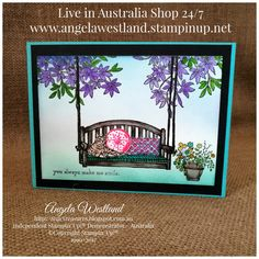"""I thought I'd try coloring and sponging with some of my new supplies and I have chosen one of my favourite stamp sets """"Sitting Here"""" it is ..."""