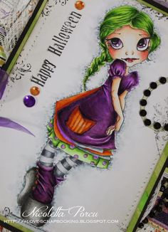 I Love Scrapbooking: Vampire Rose in the Halloween night!