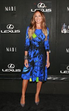 Sarah Jessica Parker x Preen Eliza Dress: Killer in Cobalt