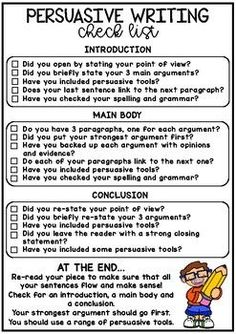 Persuasive Writing Handouts - No Prep Printables Persuasive Writing Handouts - No Prep Printables This persuasive writing pack includes a range of worksheets and activities to help support Persuasive Writing Techniques, Narrative Writing Prompts, Essay Writing Skills, Paragraph Writing, Writing Words, Writing Lessons, Teaching Writing, Middle School Writing Prompts, Writing Rubrics