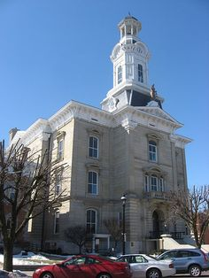 Darke County Courthouse, Greenville, Ohio, Built 1870. 1900 Population: 5,501