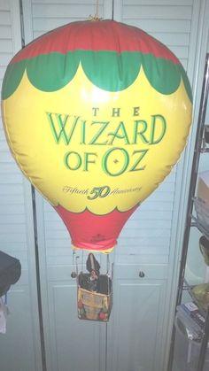 #vintage rare #1989 #TheWizardOfOz 50th #Anniversary #Balloon #Store #Display Piece #WizardOfOz #MGM #Dorothy #Scarecrow #CowardlyLion #TinMan #WickedWitch #Oz
