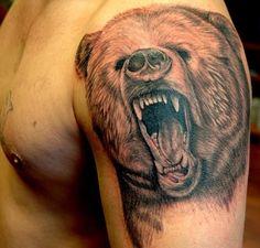 realistic black bear shoulder tattoo - Google Search