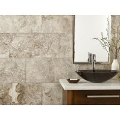 Calder Gray Polished Marble Tile - 12in. x 24in. - 100421551 | Floor and Decor