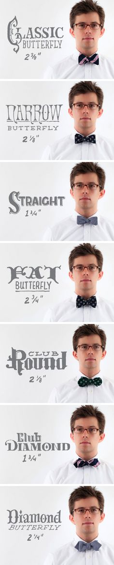 All the different bow tie styles offered through The Cordial Churchman. thecordialchurchman.com
