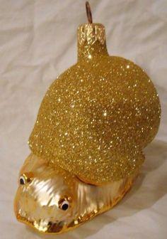 PATRICIA-BREEN-CHRISTMAS-ORNAMENT-9712-ESCARGOT-SNAIL-GOLD-GLITTER-1997