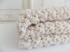 Cotton chunky crochet all natural baby by PeanutTreeDesigns