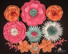 Papel flor telón de fondo flor de papel gigante por APaperEvent