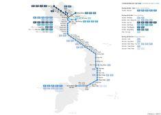 Eisenbahn-Karte von Vietnam