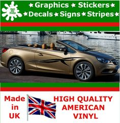 """10"""" High Car Side Stripes Graphic Decal Vinyl Stickers Van Auto Rally Race F1_21"""