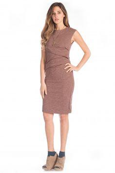 Synergy Organic Clothing Melange Column Dress in Rum Raisin | purchased