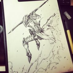 ArtStation - STATO / fantasy characters ( brush-pen ), Stato Ozo