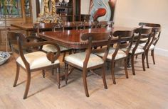 English Chippendale Mahogany Table & Gothic Chair Dining Set Pleasing Chippendale Dining Room Set Design Inspiration