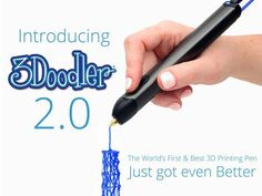 is raising funds for The World's First Printing Pen, Reinvented on Kickstarter! The world's first and best printing pen just got even better. Lift your imagination off the page all over again! Impression 3d, Stylo 3d, 3doodler, 3d Printer Projects, 3d Pen, 3d Drawings, 3d Prints, Looks Cool, Easy To Use