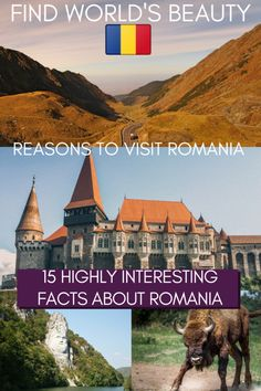 15 Interesting facts about Romania to inspire your wanderlust - Find World's Beauty Travel Around Europe, Europe Travel Guide, Europe Destinations, Budget Travel, Romania Facts, European Vacation, European Travel, Vacation Spots, Montenegro Travel