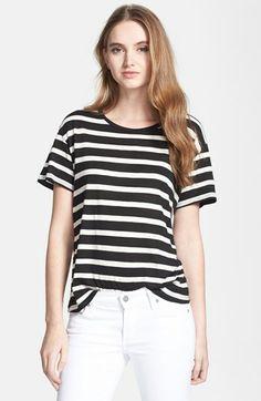 Stripes + white jeans