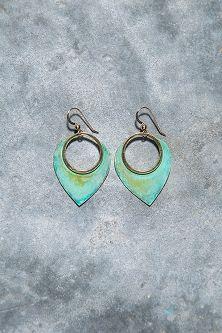 Mini Tribal Petal Earrings