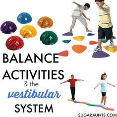 The vestibular system is one of the bodys senses and responsible for awareness of our body in space and gravitational insecurity during tasks. Kids can use balance beams to work on integration of the vestibular sense, perfect for children who seek movement, run into objects, fear certain positions, have trouble visually tracking items in reading and written, and more. Occupational Therapy with a balance beam activities.