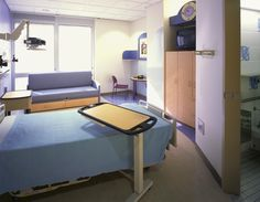 Children's Medical Center Dallas - Private Patient Room. Design by Mitchell Associates.