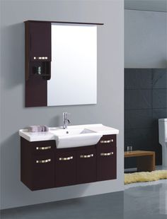 The bathroom mirror cabinets are one of the amazing ideas that can be chosen by people as their great idea for their bathroom. Relating to this one, you Wood Bathroom Cabinets, Bathroom Mirror With Shelf, Bathroom Sink Units, Bathroom Mirror Design, Bathroom Windows, Mirror Cabinets, Wood Mirror, Bathroom Vanity Lighting, Bathroom Colors